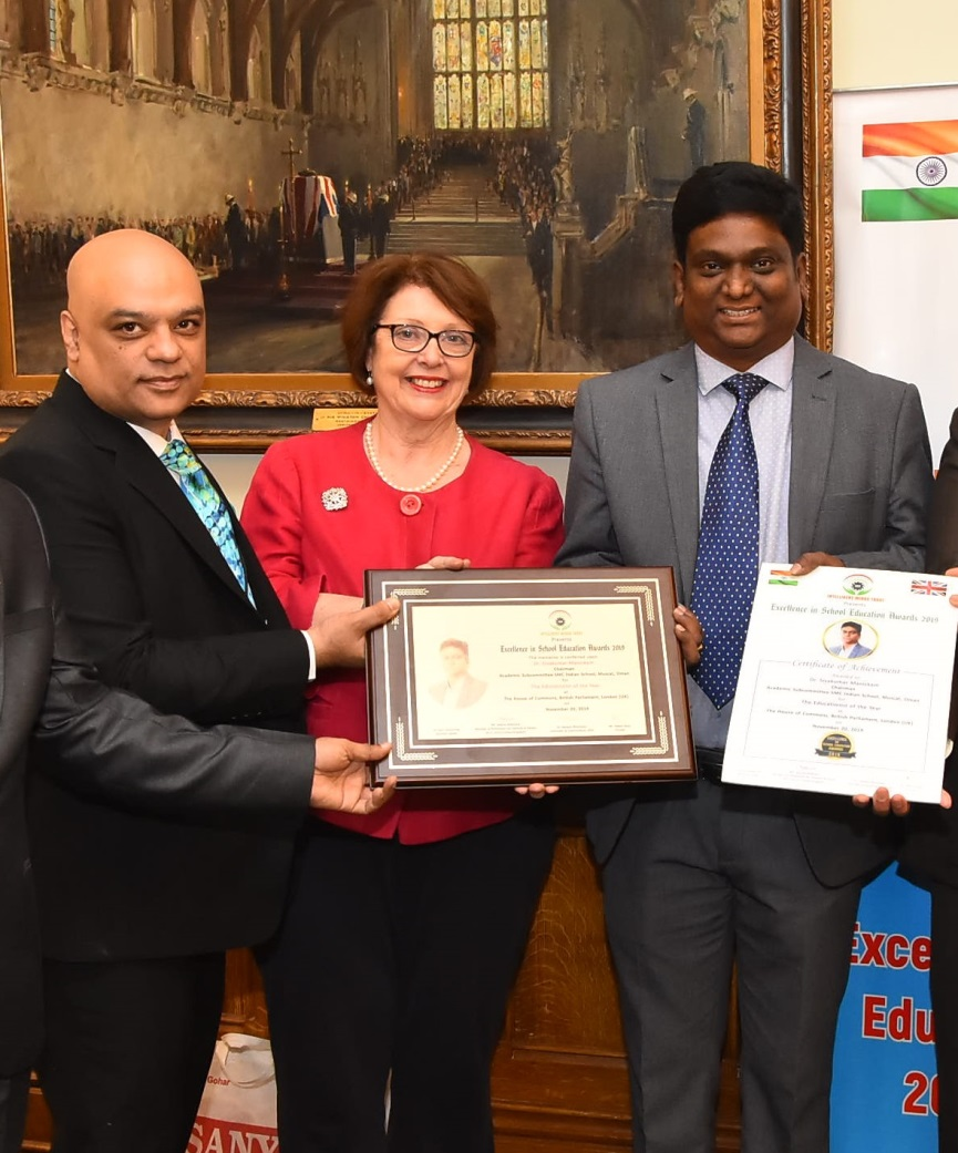 ODC Faculty Member Receives Excellence in Education Award at British Parliament